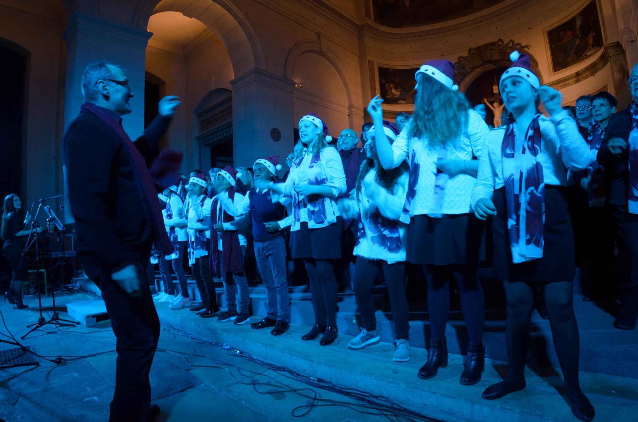 """Concert \""""Noël des 4 coins du Monde\"""" - Chorale Atout Choeur, Chorale Saint André - Cathédrale Saint-Louis-et-Saint-Nicolas de Choisy-le-Roi, 16 décembre 2017"""